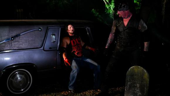 La sugerencia de Kurt Angle a The Undertaker para enfrentar a AJ Styles. (Foto: WWE)