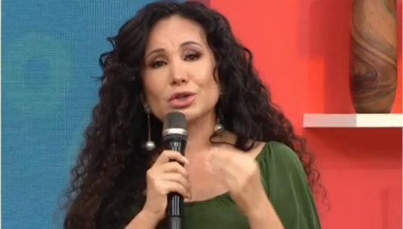 Janet Barboza se quiebra al hablar con Ernesto Pimentel por familiares con COVID-19. (Foto: Captura América TV).