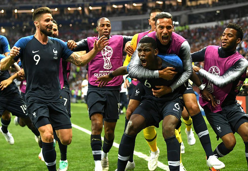 Francia vs. Croacia. (Getty)