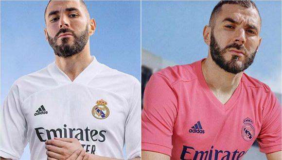 Karim Benzema presenta la nueva camiseta de Real Madrid. (Foto: Real Madrid)