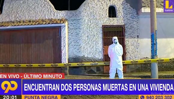 La Policía cercó la vivienda en donde fueron hallados los dos cuerpos. (Latina)