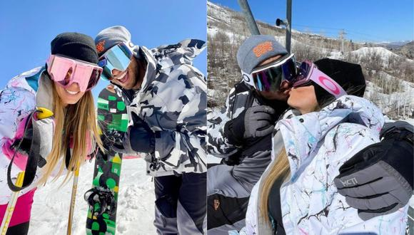 Alejandra Baigorria y Said Palao disfrutan de la nieve de Utah, Estados Unidos. (Foto: @alejandrabaigorria)