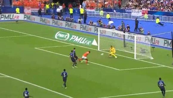 Así fue el gol de Holanda para el empate ante Francia. (Foto: Captura YouTube)