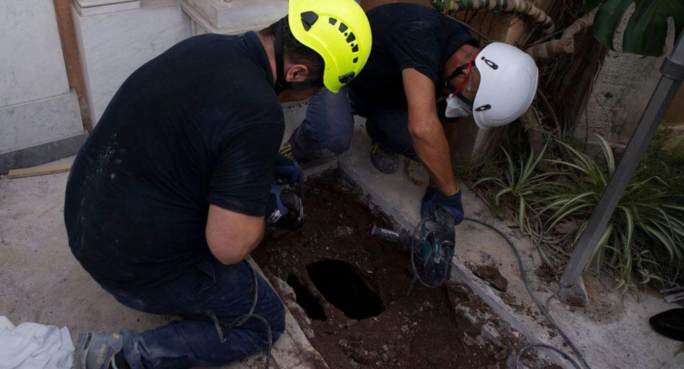 """La sorpresa fue cuando tras abrir las sepulturas """"no se encontraron hallazgos humanos o urnas funerarias"""", como también informó el Vaticano.(Foto: AFP)"""
