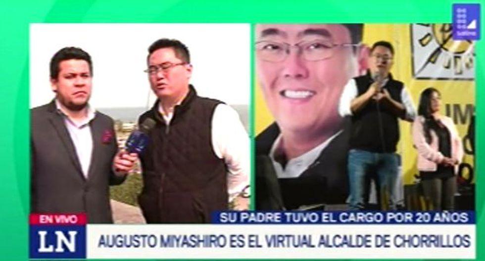 Augusto Miyashiro Ushikubo indicó que pedirá a la Contraloría que se aclarezca la situación de su papá. (Foto: Captura de video / 90 Matinal)