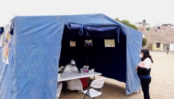 En campaña médica 57 personas dieron positivo al COVID-19 en Nuevo Mocce (Foto: Lambayeque).