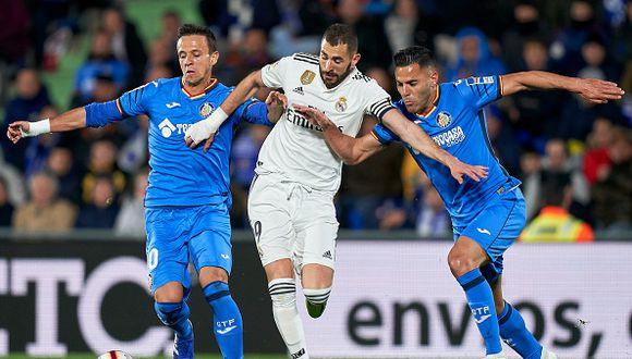 Karim Benzema tiene opciones de reaparecer con el Real Madrid ante Real Sociedad este domingo. (Foto: Getty)