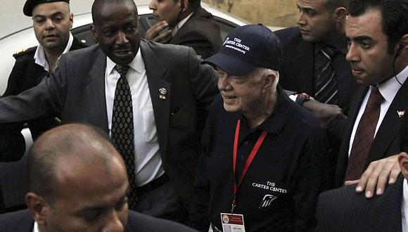 El expresidente de EEUU Jimmy Carter estuvo en comicios parlamentarios egipcios. (Reuters)