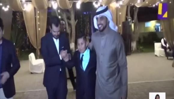 Empresario árabe regaló la fiesta de promoción a menor trujillano que apoyó. (Foto: Captura)
