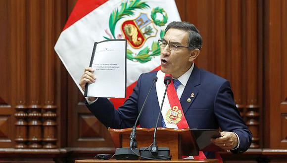 La propuesta anunciada por el presidente Vizcarra para adelantar las elecciones generales representa riesgos a la baja en crecimiento económico de Perú, según Moody's. (Foto: GEC)