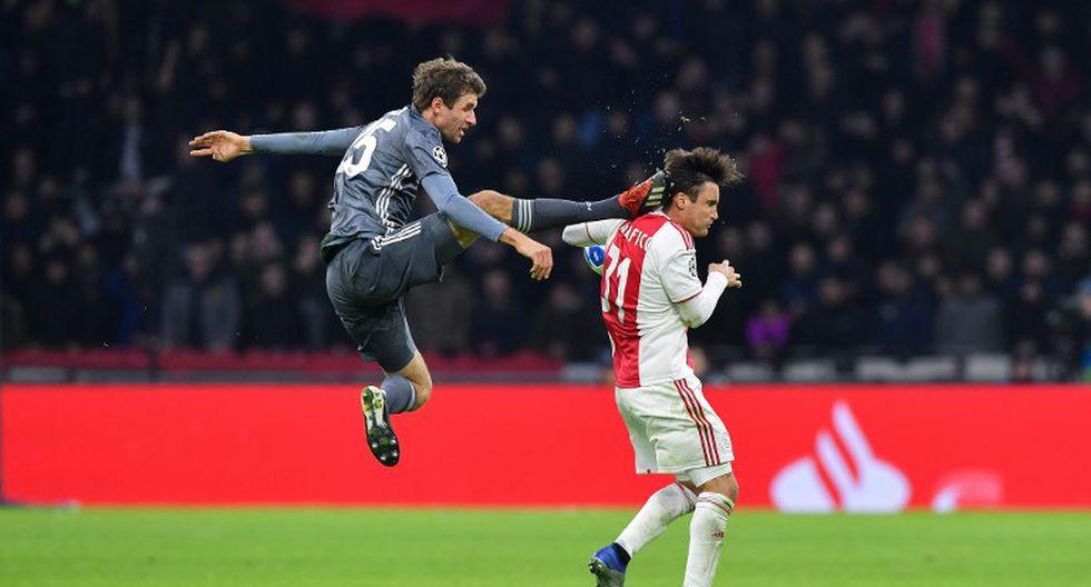 Thomas Muller se queda sin Champions League por horrenda falta a Nicolás Tagliafico (AFP)
