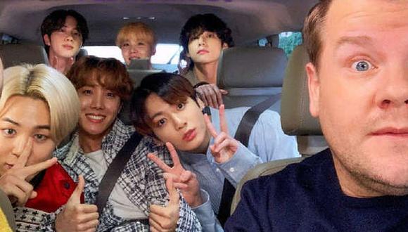 BTS se convertirá en el primer grupo de K-pop que se presentará en el Carpool Karaoke de James Corden. (Foto: Captura)