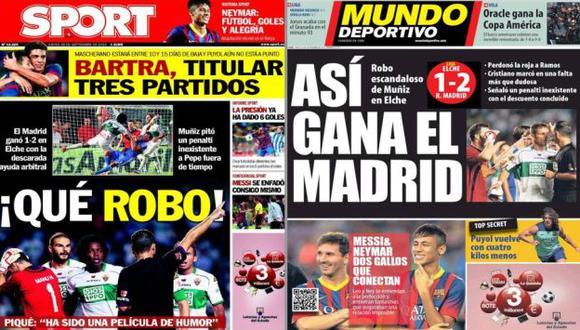 METEN PRESIÓN. La prensa catalana comenzó a jugar su partido antiMadrid. (Internet)