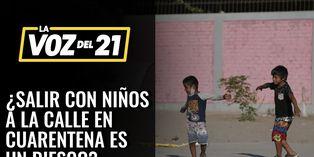 ¿Salir con niños a la calle durante la pandemia es un riesgo?