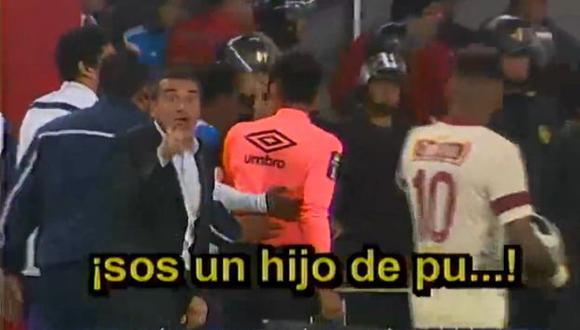 Luis Sanguinetti insultó a Alexi Gómez en el Alianza Lima-Universitario. (América Noticias)