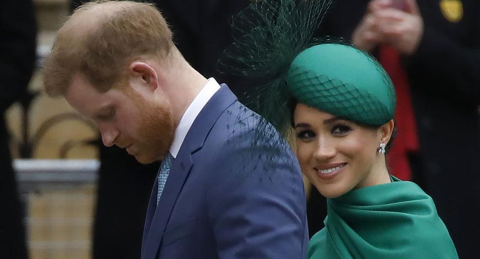 En esta foto de archivo, el príncipe Harry  y su esposa Meghan Markle asisten al servicio anual de la Commonwealth en la Abadía de Westminster en Londres el 9 de marzo de 2020. (Foto de Tolga AKMEN / AFP).