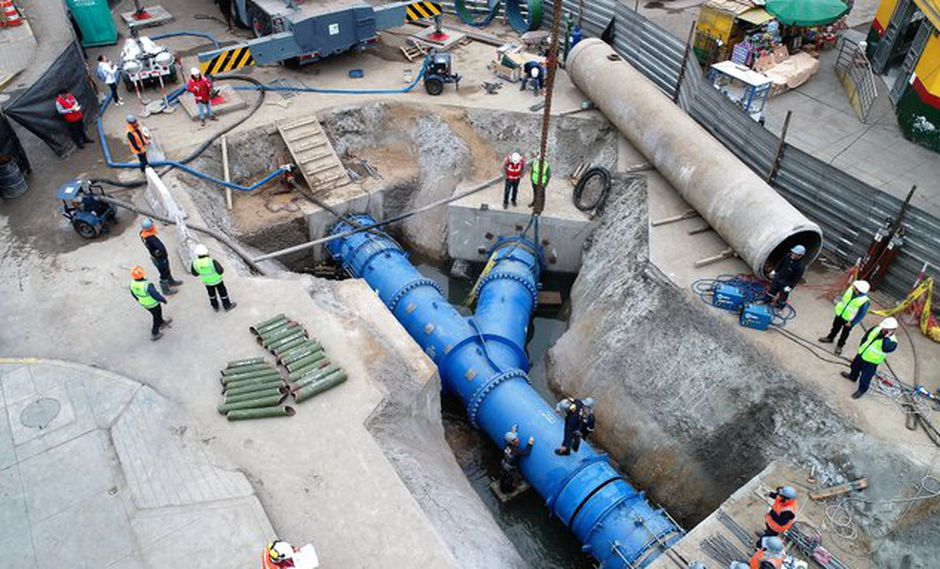 Los trabajos por la Línea 2 del Metro de Lima motivaron al corte de agua en la capital del 5 al 7 de julio. (Foto: Metro de Lima)