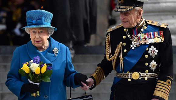 La reina Isabel II y Felipe de Edimburgo. (Foto: AFP)