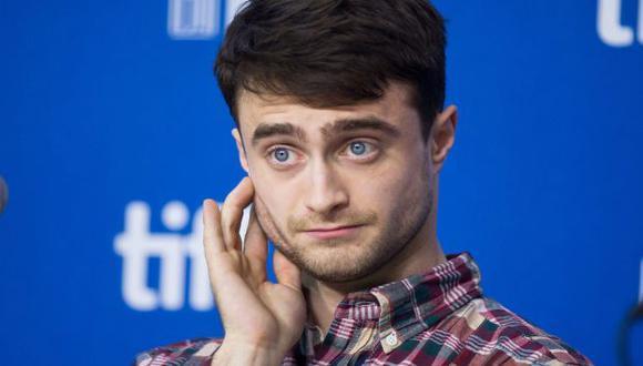 Daniel Radcliffe durante conferencia en el Festival de Toronto. (AP)