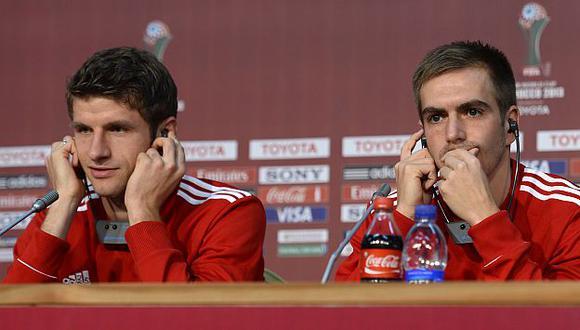 Lahm y Müller forman parte del grupo de 23 jugadores que Joachim Löw ha llevado al Mundial. (AFP)