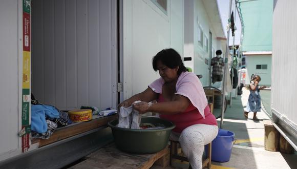 Los damnificados del incendio en Villa El Salvador viven en módulos implementados por el Gobierno. (GEC)