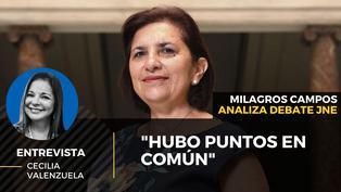 """Milagros Campos analiza debate del JNE: """"Hubo puntos en común"""""""