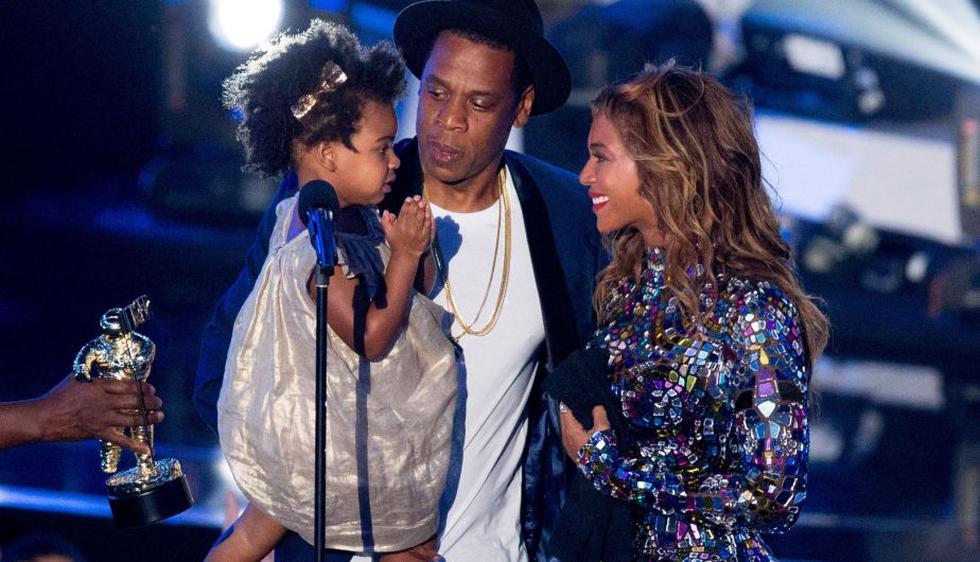 Beyoncé recibió premio de su pequeña Blue Ivy. (AFP)