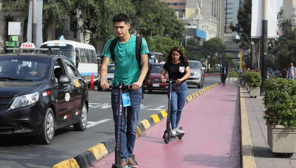PEATONES SEGUROS. Scooters eléctricos podrán circular solo por la pista o por las ciclovías (Juan Ponce)