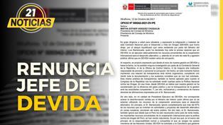 Jefe de DEVIDA renuncia ante ataques de Barranzuela