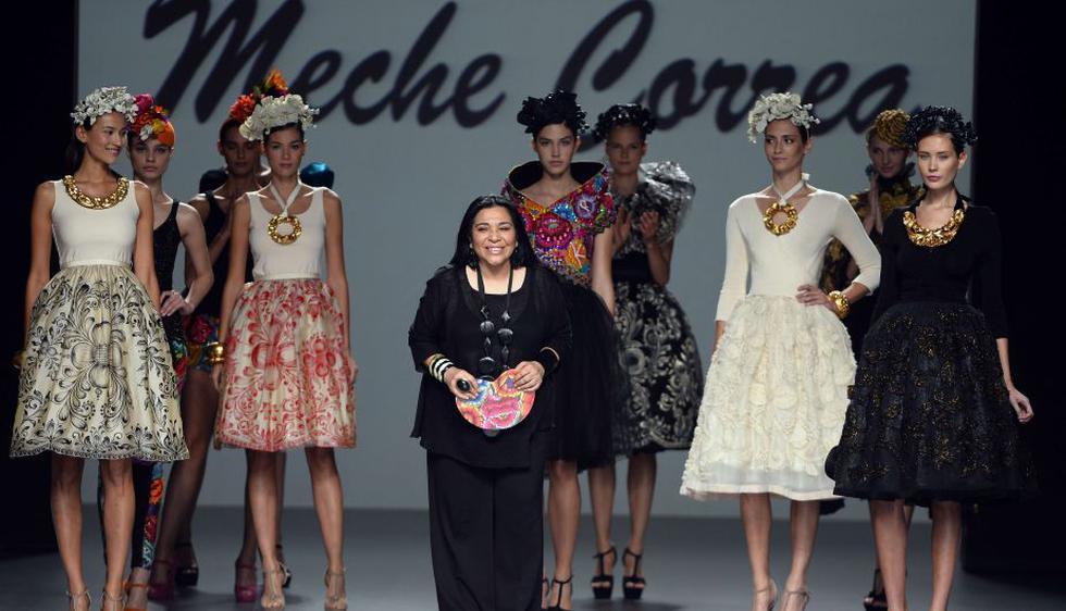 Meche Correa presentó sus diseños en el Madrid Fashion Week. (AFP)