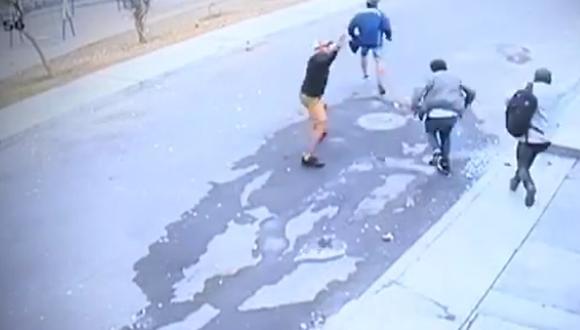 Delincuentes amenazaron con disparar a menor de un año si no le daban el dinero. (Buenos Días Perú/ Panamericana TV)