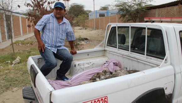 Cadáver fue trasladado a la morgue de provincia piurana. (Cinthia Cherres)