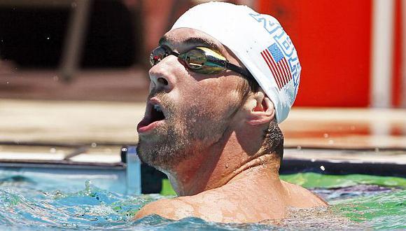 Michael Phelps vuelve a nadar pero sin gloria. (Reuters)