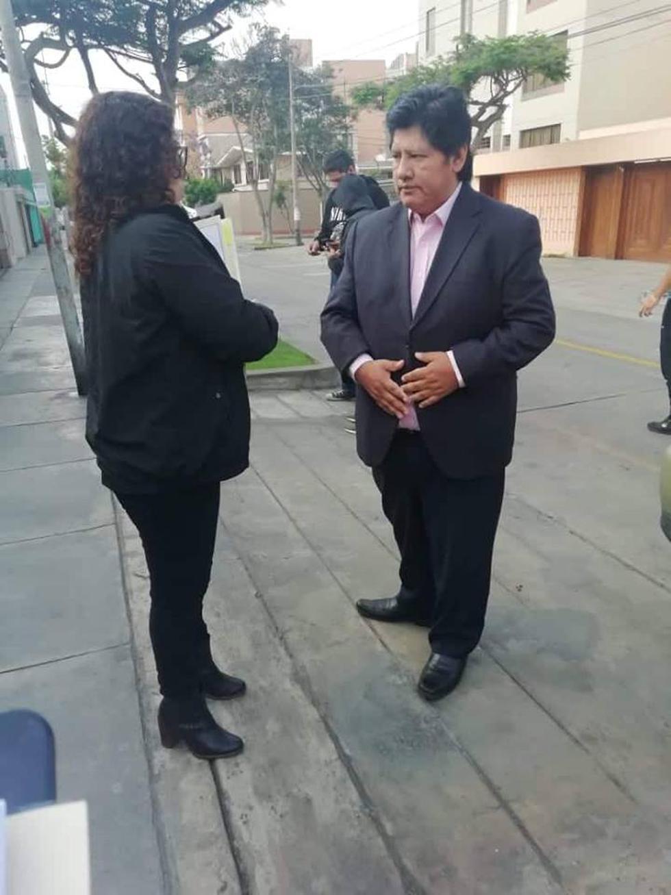 La fiscal Rocío Sánchez Saavedra, a cargo del caso, acudió a la vivienda de Edwin Oviedo en San Borja . (Foto: Difusión)
