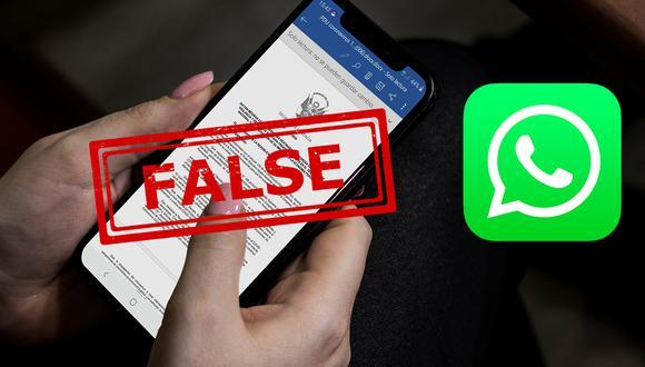 Conoce los mensajes que nunca debes compartir por WhatsApp durante la cuarentena por Coronavirus. (Foto: WhatsApp)