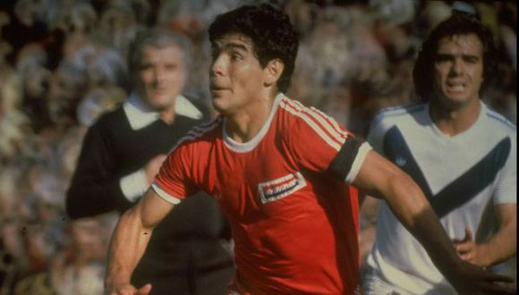 Maradona deslumbró en Argentinos Juniors. (USI)