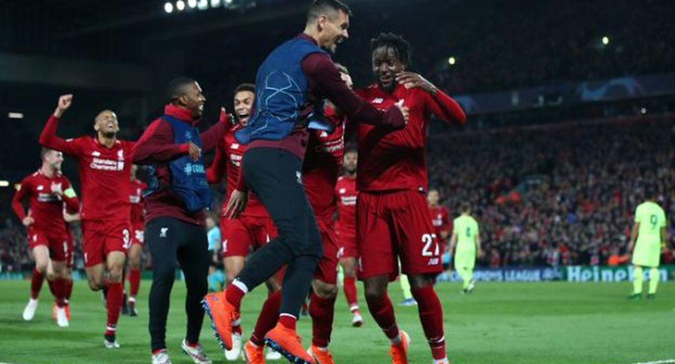 La emotiva celebración de Liverpool tras pase a la final. (Foto: Liverpool)
