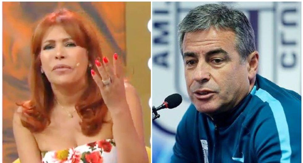 Magaly Medina cuestionó la tibia respuesta de Pablo Bengoechea ante el 'ampay' de sus jugadores. (GEC)