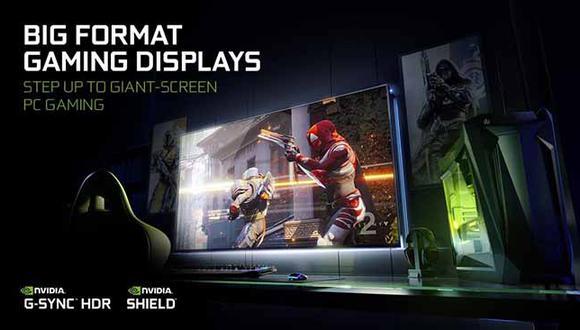 Nuevos monitores fueron presentados por NVIDIA en el CES 2018 en Las Vegas.