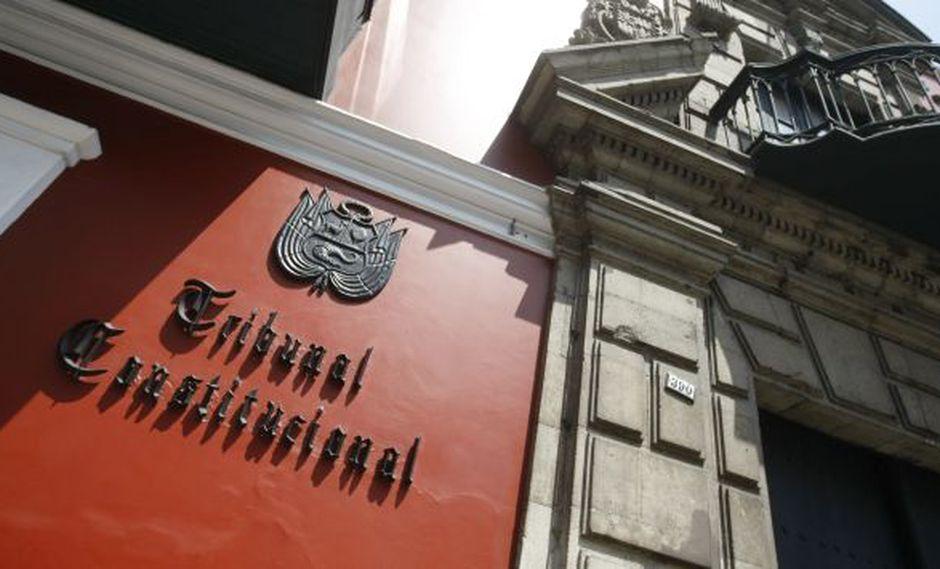Pleno del Tribunal Constitucional dará conferencia esta tarde. (Mario Zapata)