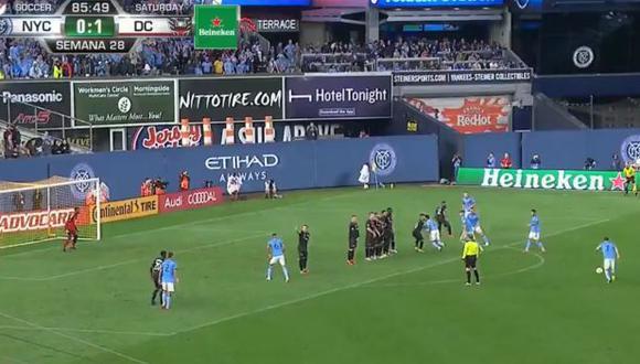 David Villa le dio el empate a New York City ante DC United por la MLS. (Captura: YouTube)