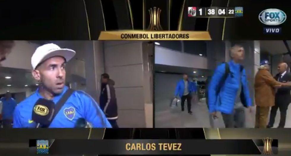 Carlos Tevez se refiere a River Plate a pocas horas del partido (Captura: FOX Sports).