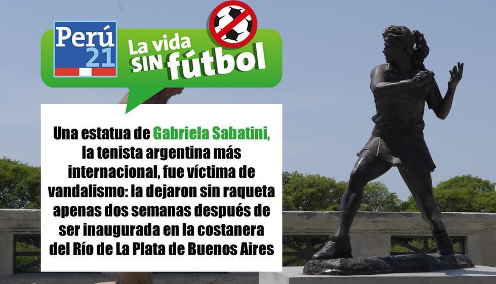 Estatua de Gabriela Sabatini sufrió peculiar robo. (Perú21)