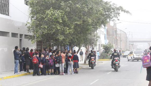AMENAZAS. Al menos 30 colegios de San Juan de Lurigancho han sido blanco de extorsiones. (USI)