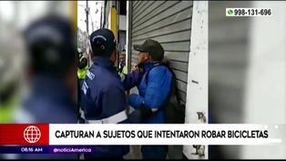 Municipalidad de Lima: Serenos logran capturar a ladrones de bicicletas
