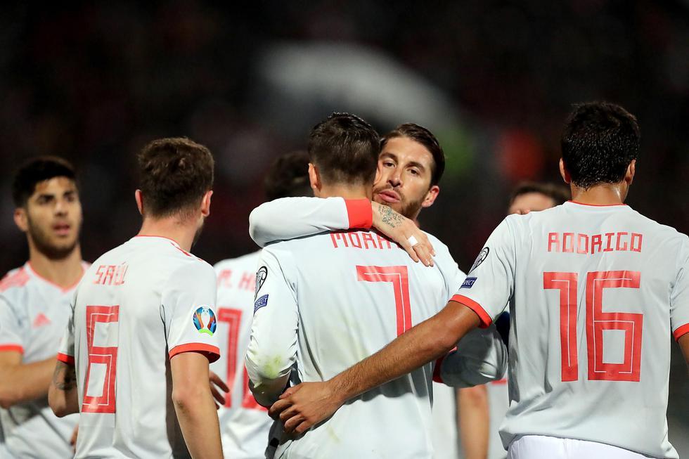 España venció 2-0 a Malta por la fase previa de la Eurocopa 2020. (EFE)