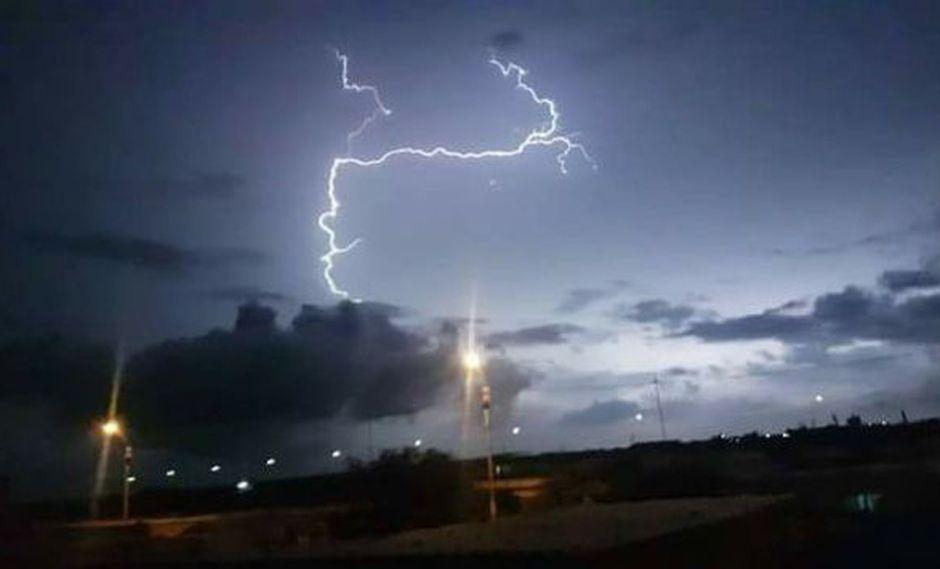 Piura es una de las zonas afectadas por las tormentas eléctricas. (Foto: Rene Amaya/Facebook)