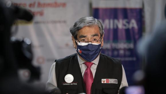 El ministro de Salud, Óscar Ugarte, exhortó a la ciudadanía a no participar de las movilizaciones convocadas por los candidatos presidenciales. (Foto: Anthony Niño de Guzmán/GEC)