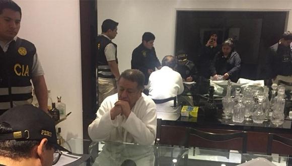 """Mario Mendoza fue detenido por presuntamente integrar la organización criminal """"Los cuellos blancos del puerto"""". (Foto: Mininter)"""