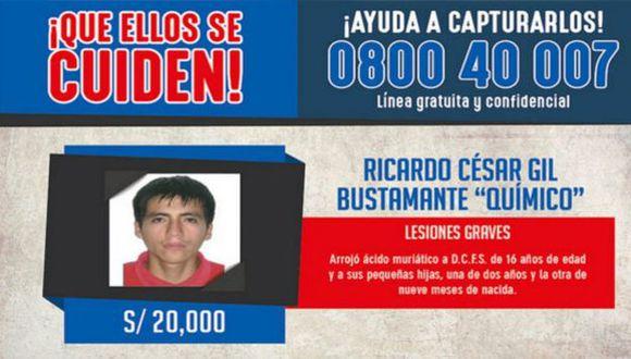Este delincuente era buscado desde el pasado 20 de enero del 2015. Fue capturado en Chiclayo. (Min.Inter)
